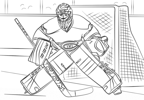 hockey goalie coloring pages hockey coloring page goalie kneeling pages goalie coloring hockey