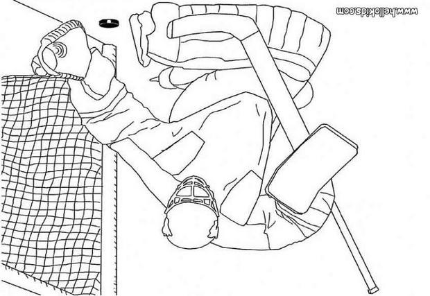 hockey goalie coloring pages hockey goalkeeper coloring pages hellokidscom hockey pages goalie coloring