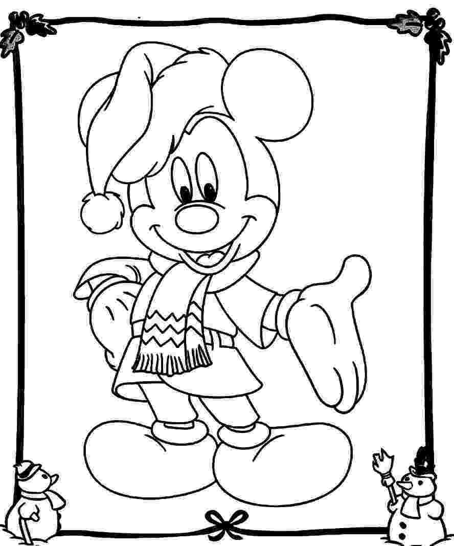 holiday coloring pictures mickey mouse christmas coloring pages best coloring pictures holiday coloring