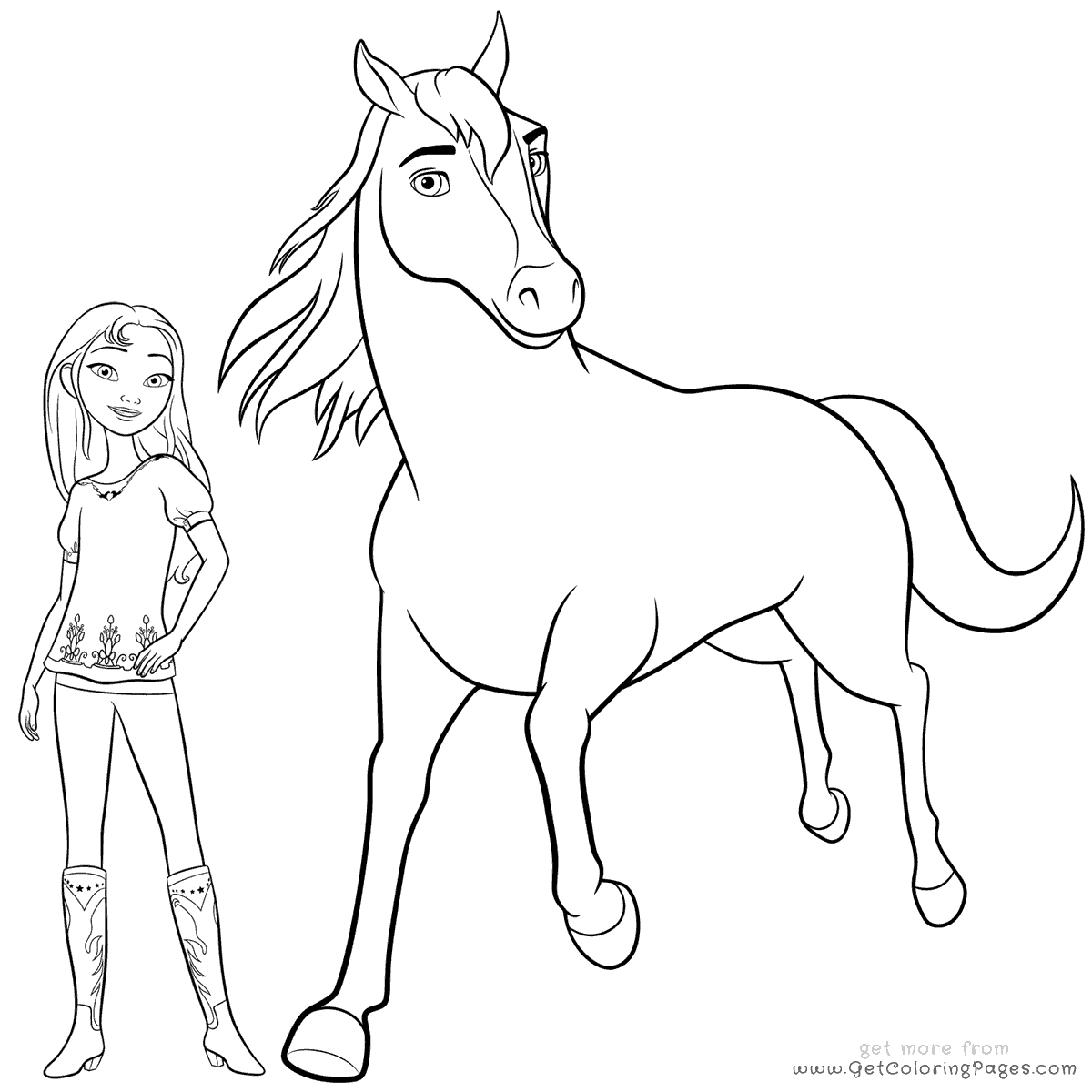 horse print out coloring pages spirit horse coloring pages free coloring for kids 2019 coloring pages horse out print