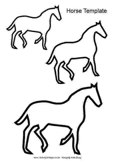 horse print out horse crafts for kids make your own horses with easy arts print horse out