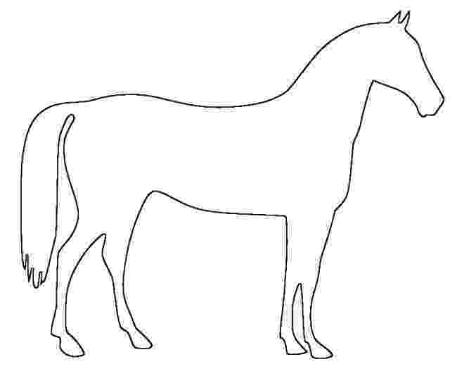 horse print out horse template animal templates free premium templates out horse print