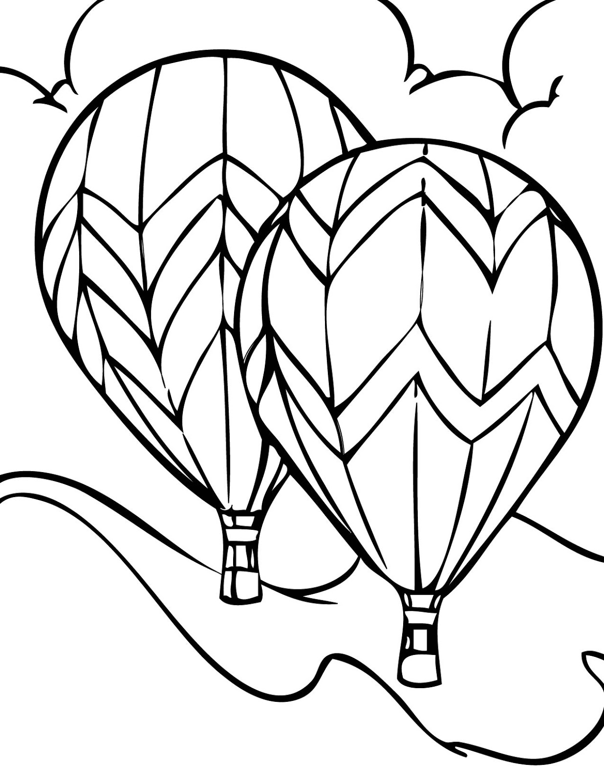 hot air balloon coloring pages all air balloon coloring page wecoloringpagecom balloon hot pages coloring air