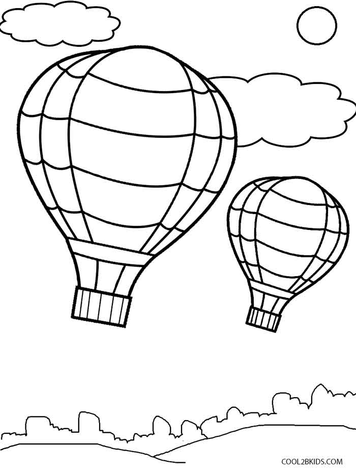 hot air balloon coloring pages free printable hot air balloon coloring pages for kids air balloon pages hot coloring
