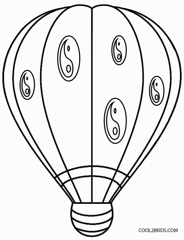 hot air balloon coloring pages fun learn free worksheets for kid ภาพระบายสพาหนะชนด air coloring pages hot balloon