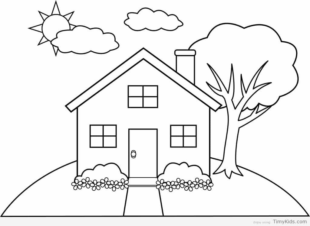 house coloring sheet free printable house coloring pages for kids sheet coloring house 1 1
