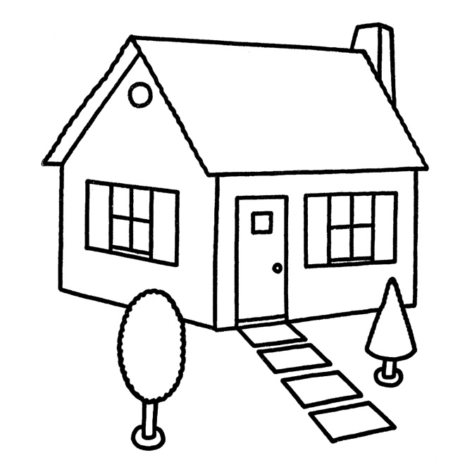house coloring sheet people and jobs coloring pages for kids houses colouring house coloring sheet