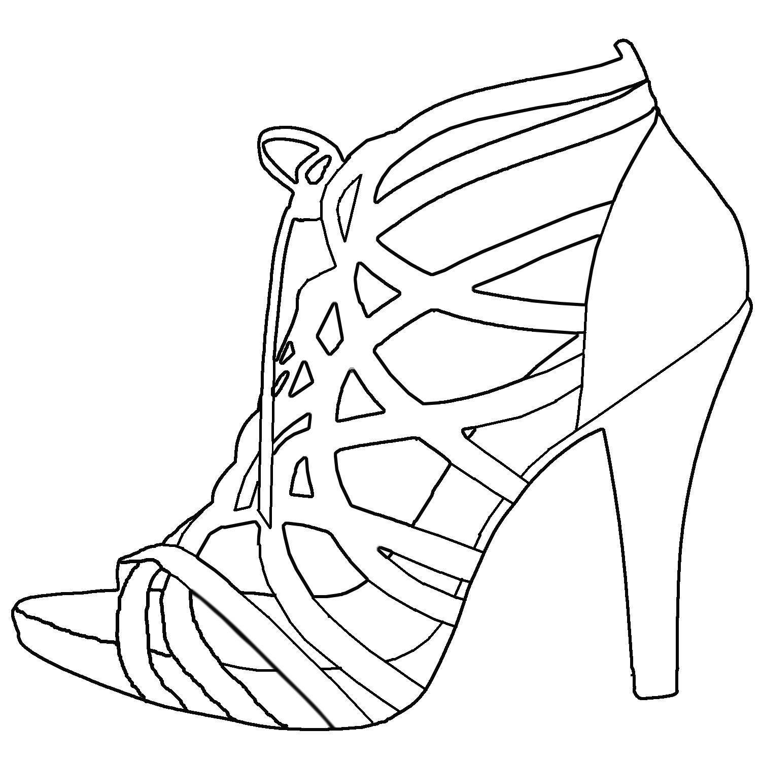 how to sketch high heels high heel shoes coloring pages bing images zb the shoe to sketch how high heels