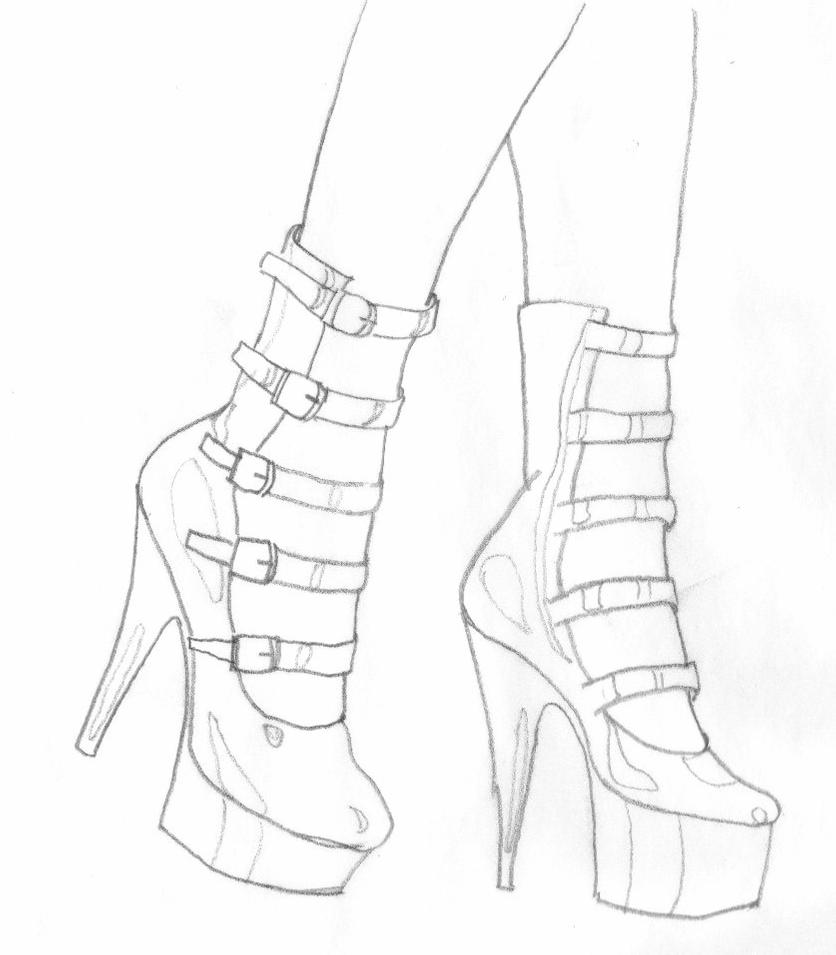 how to sketch high heels how to draw a high heel shoe step by step drawing how high sketch to heels