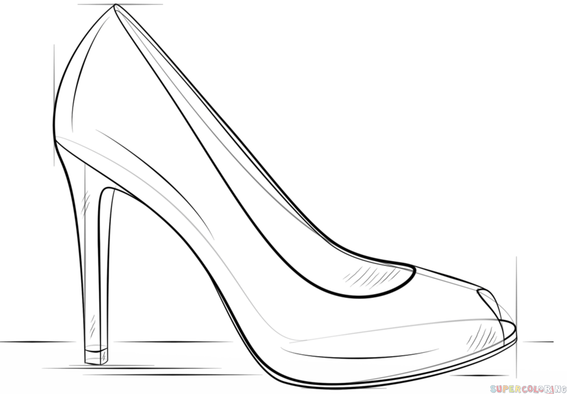 how to sketch high heels mini lesson drawing shoes from different angles ms high to heels how sketch