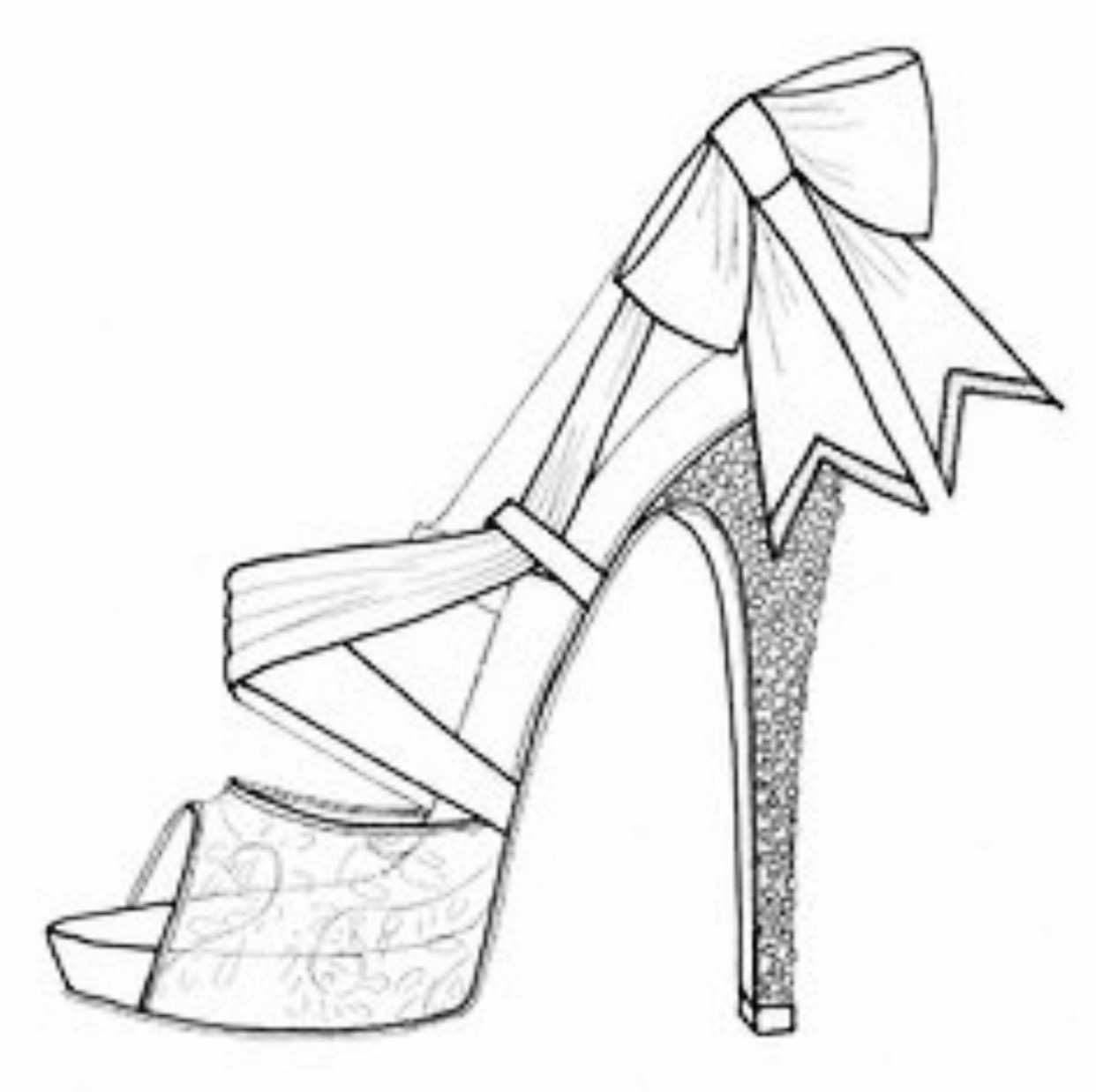how to sketch high heels outline drawing woman high heel shoes sketch coloring page sketch how high to heels