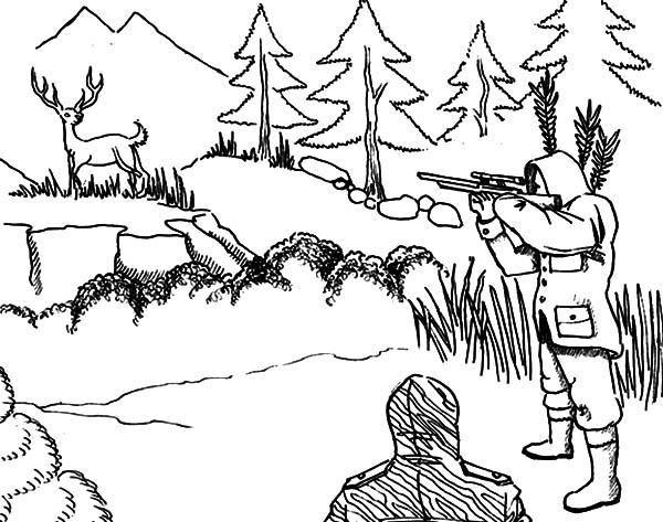 hunting coloring pages aiming at deer hunting coloring pages coloring sky hunting coloring pages
