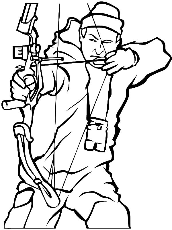 hunting coloring pages bear tapping a hunter on the shoulder when hunting coloring pages hunting