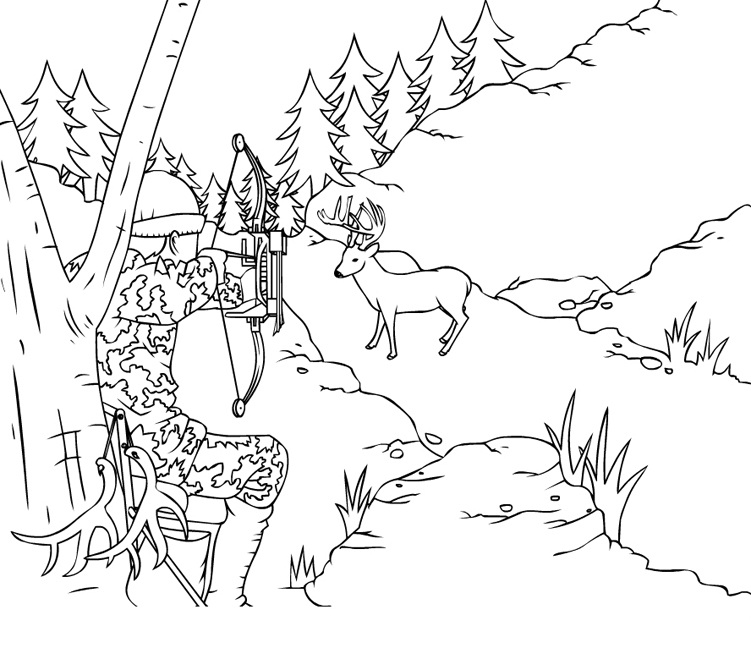 hunting coloring pages hunter coloring pages pages coloring hunting