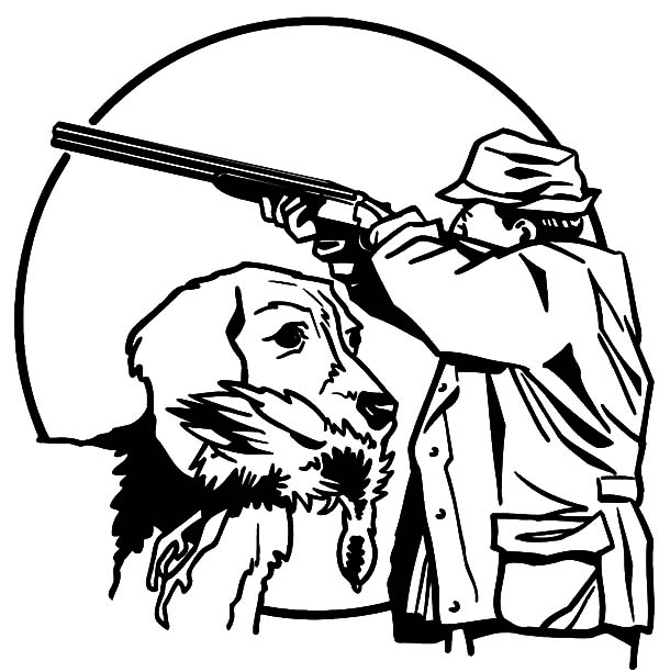 hunting coloring pages hunting with trained dog coloring pages hunting with hunting pages coloring
