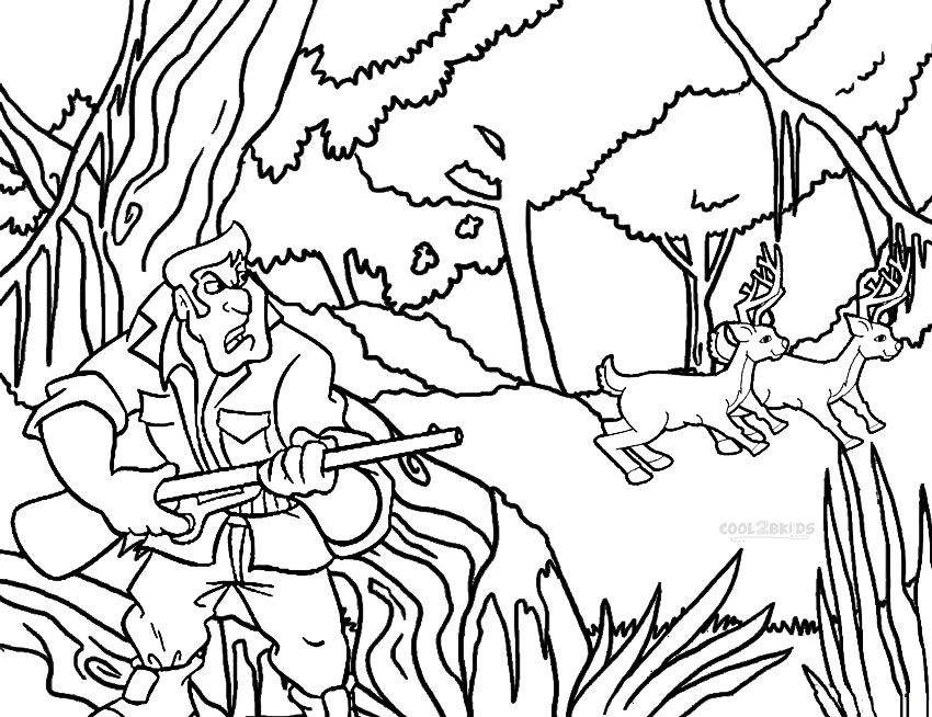 hunting coloring pages printable hunting coloring pages for kids cool2bkids coloring hunting pages