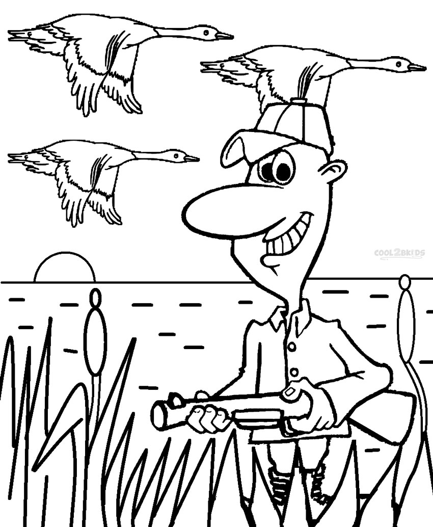 hunting coloring pages printable hunting coloring pages for kids cool2bkids coloring hunting pages 1 1