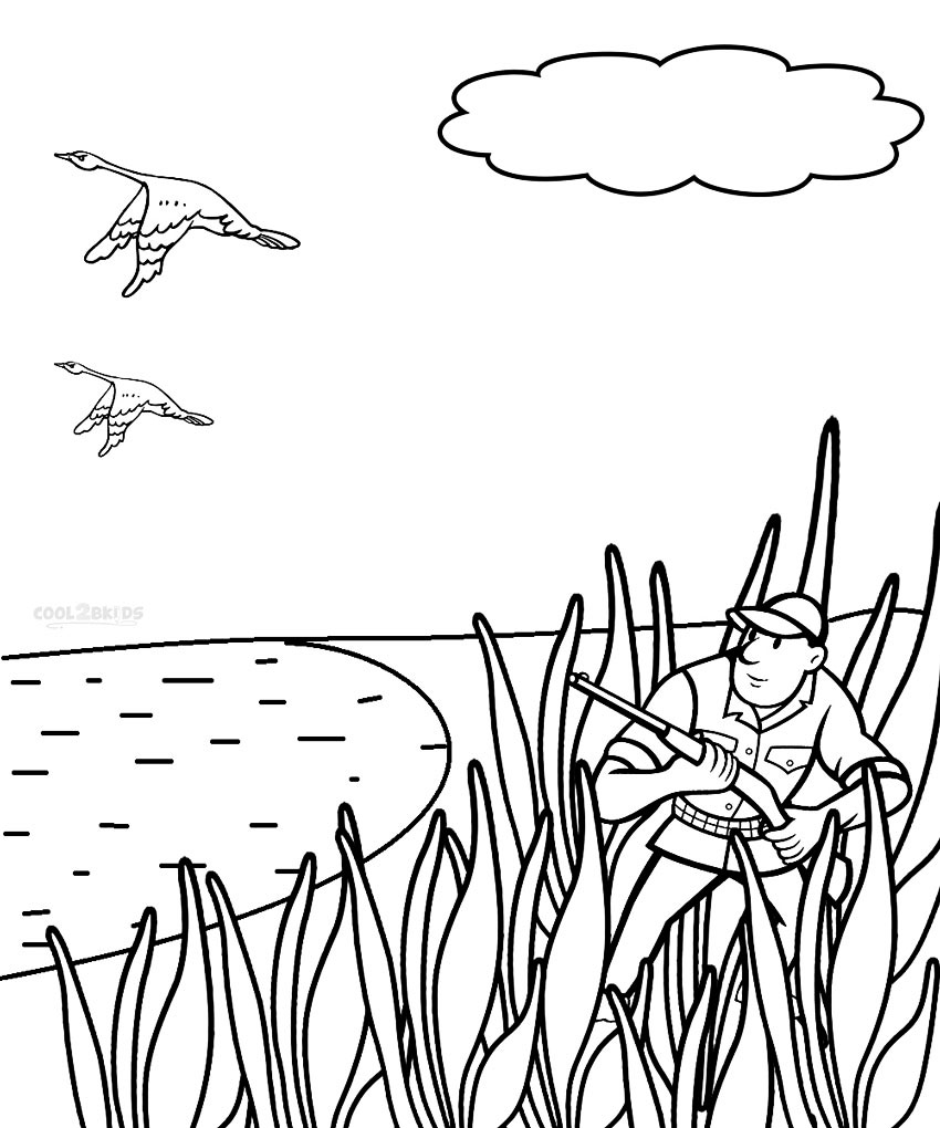 hunting coloring pages printable hunting coloring pages for kids cool2bkids pages coloring hunting