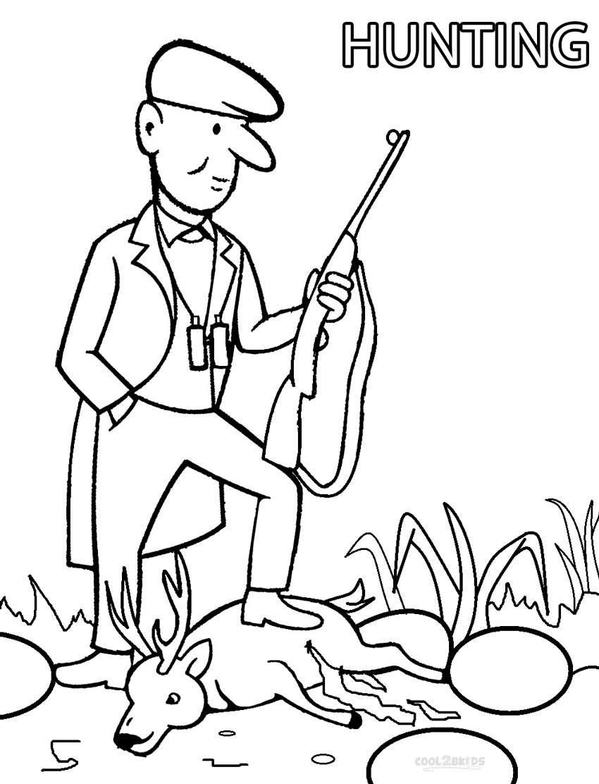 hunting coloring pages printable hunting coloring pages for kids cool2bkids pages hunting coloring 1 1