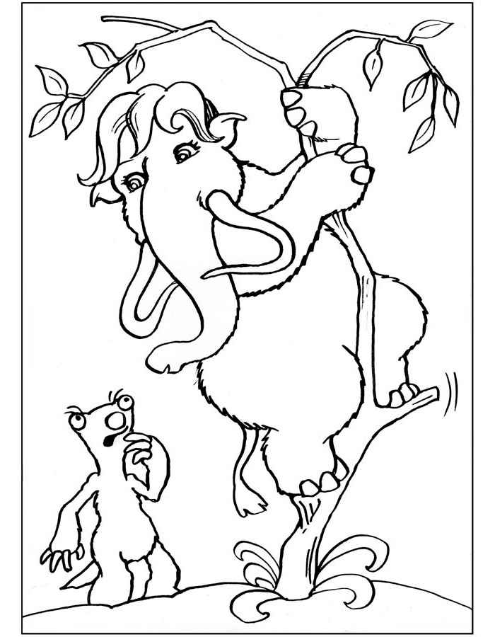 ice age printables ice age coloring pages age ice printables