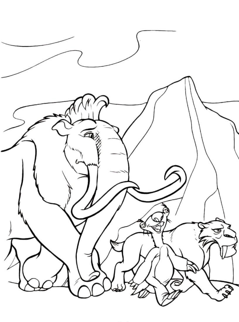 ice age printables ice age coloring pages coloring pages for children ice printables age