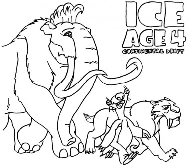 ice age printables ice age coloring pages download and print ice age age printables ice