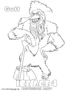 ice age printables ice age coloring pages sketch coloring page age printables ice