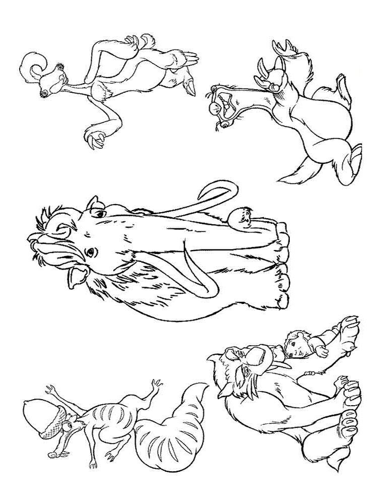 ice age printables ice age coloring pages to download and print for free age printables ice