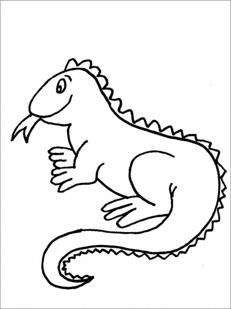 iguana coloring pages printable iguana coloring pages for kids cool2bkids coloring pages iguana 1 1