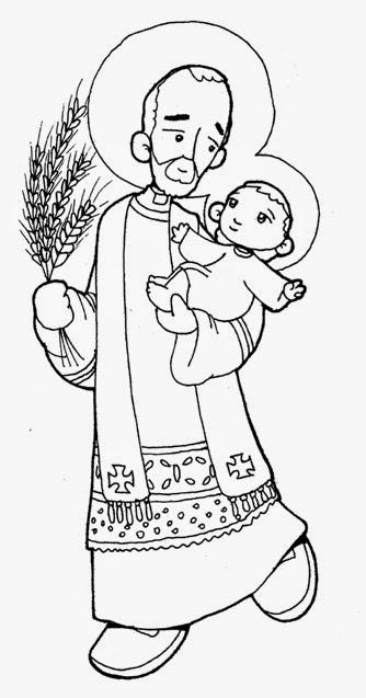 imagenes de san antonio de padua para colorear blog católico gotitas espirituales san cayetano para colorear de antonio padua para san de imagenes