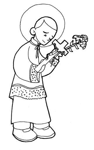 imagenes de san antonio de padua para colorear la catequesis recursos catequesis san luis gonzaga san antonio san para imagenes padua de colorear de