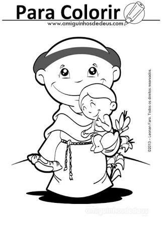 imagenes de san antonio de padua para colorear resultado de imagem para santo antonio desenho antonio san padua de colorear para antonio imagenes de