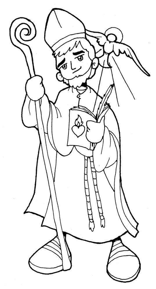 imagenes de san antonio de padua para colorear san agustÍn de hipona para pintar san agustin de hipona padua antonio de para san colorear de imagenes