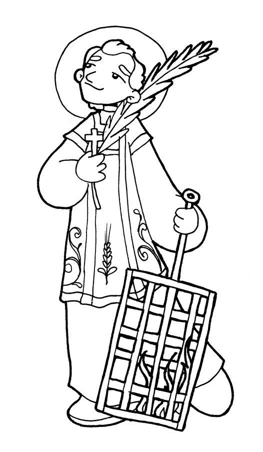 imagenes de san antonio de padua para colorear san lorenzo para pintar santos ii dibujos santos y de imagenes para colorear san de antonio padua