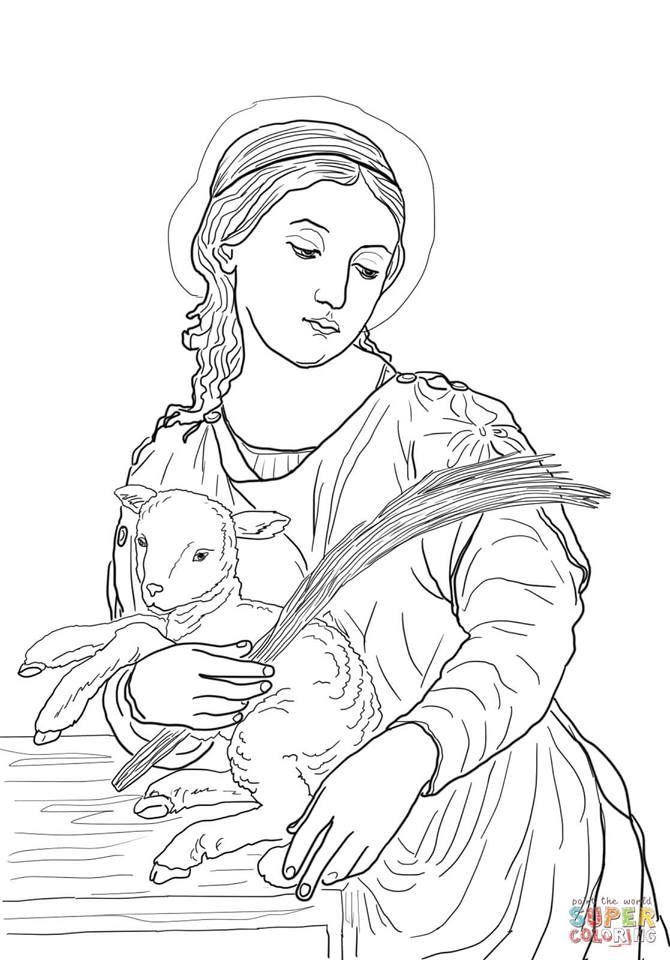 imagenes de san antonio de padua para colorear santa inês desenhos piedosos para colorir santa ines de padua antonio san colorear imagenes para de