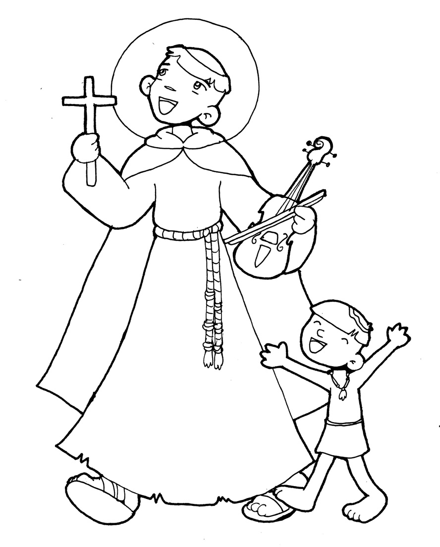 imagenes de san antonio de padua para colorear santoral católico imagen de san francisco de asÍs de padua san para de colorear antonio imagenes