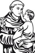 imagenes de san antonio de padua para colorear vectores de imágenes religiosas para corte en ploter pág 2 imagenes antonio san colorear para de de padua