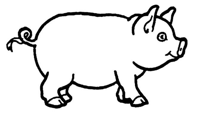 images of pigs to color cartoon picture of a pig clipartsco color images pigs to of
