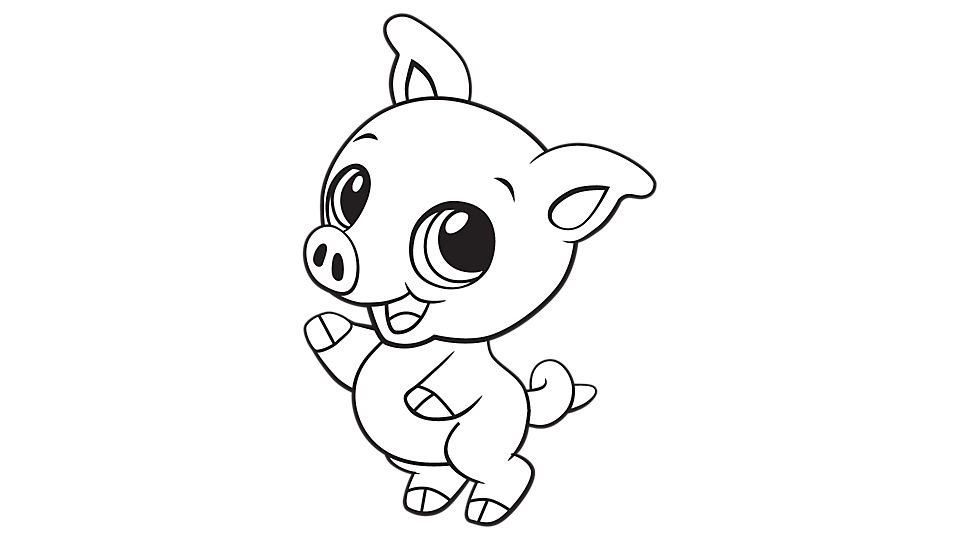 images of pigs to color cute pig coloring page kindergarten tiere pinterest of images color pigs to