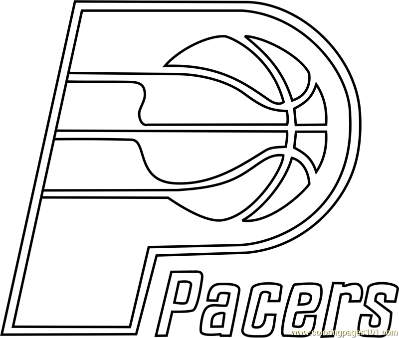 indiana pacers coloring pages indiana pacers logo coloring page free printable pacers coloring indiana pages