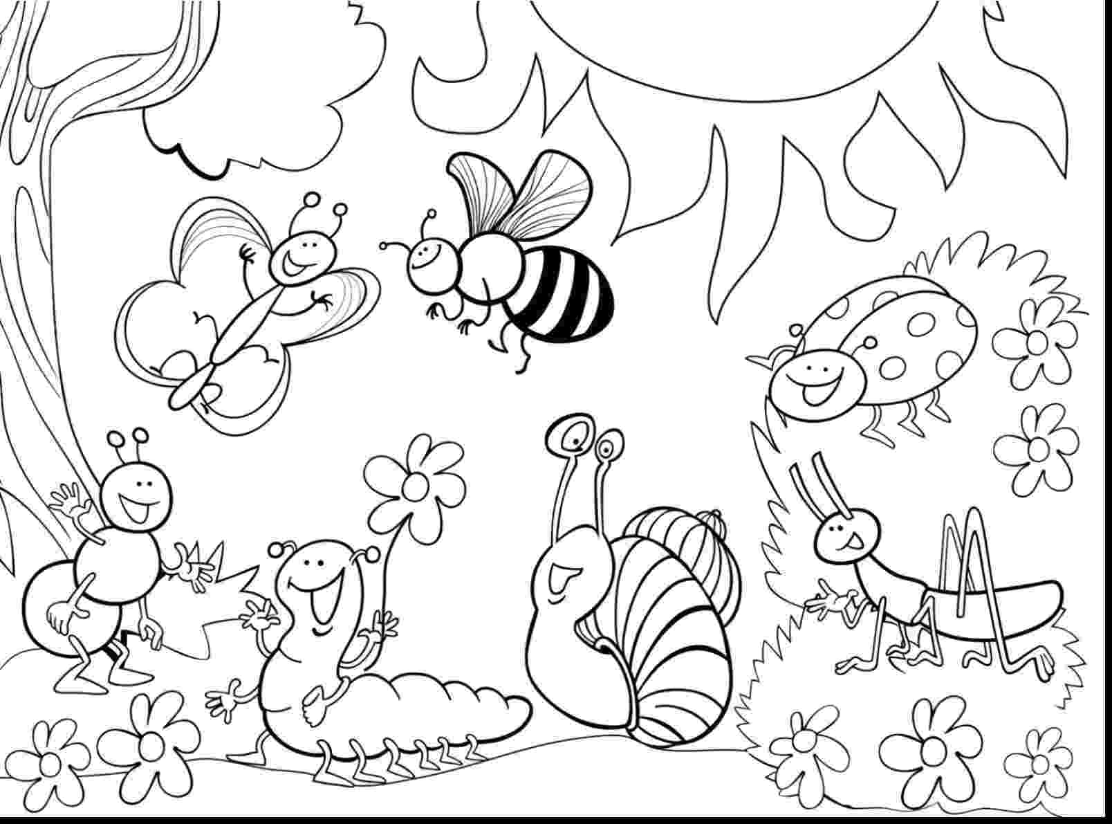 insect colouring page bug coloring pages bugs print new school ideas garden page colouring insect