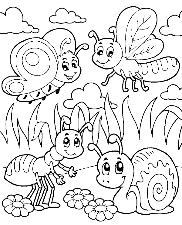 insect colouring page insects coloring pages getcoloringpagescom insect colouring page