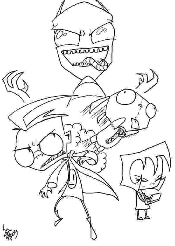 invader zim coloring pages art zim disguise pointing coloring page free invader zim pages coloring zim invader