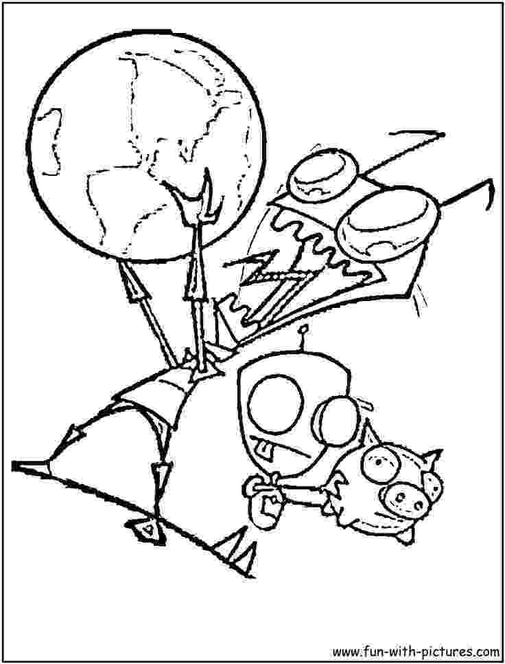 invader zim coloring pages coloring fun zim and creeper invader coloring zim pages