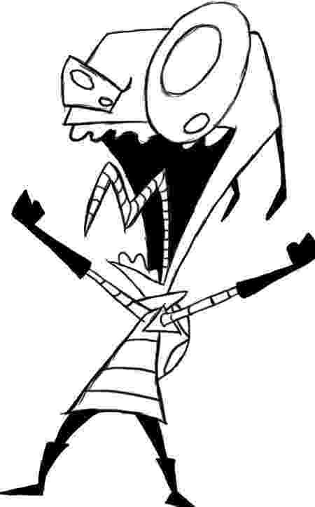 invader zim coloring pages invader zim gir coloring pages to print coloring home pages zim invader coloring