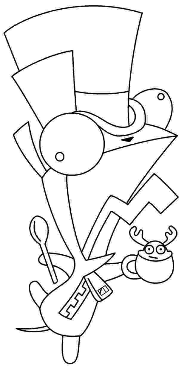 invader zim coloring pages invader zim poster by nocturnalmoth on deviantart invader pages zim coloring