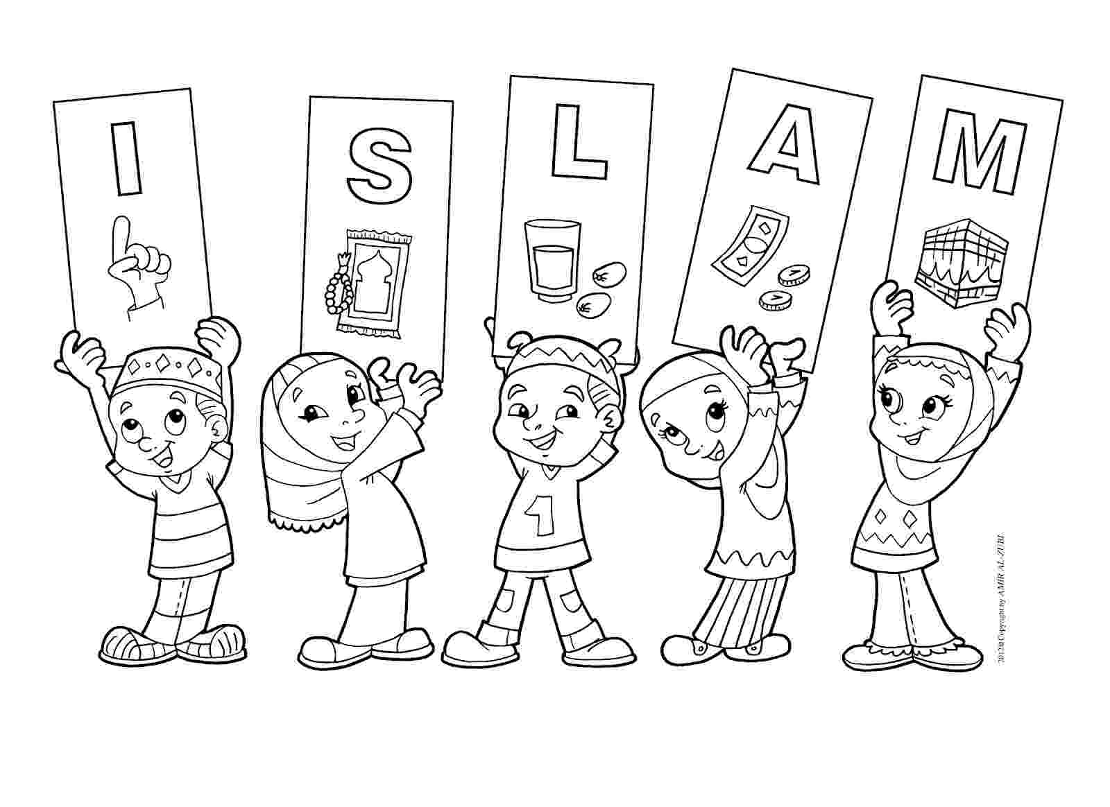 islamic coloring pages homeschoolers39 file cabinet 2nd week may moral stories coloring islamic pages