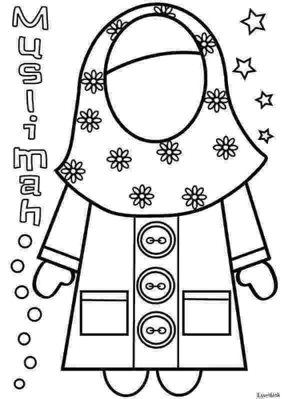 islamic coloring pages islamic muslim wears hijab girl coloring pages pages coloring islamic