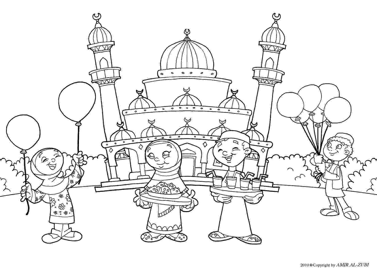 islamic coloring pages this page has a bunch of printable mosques and a few work pages islamic coloring