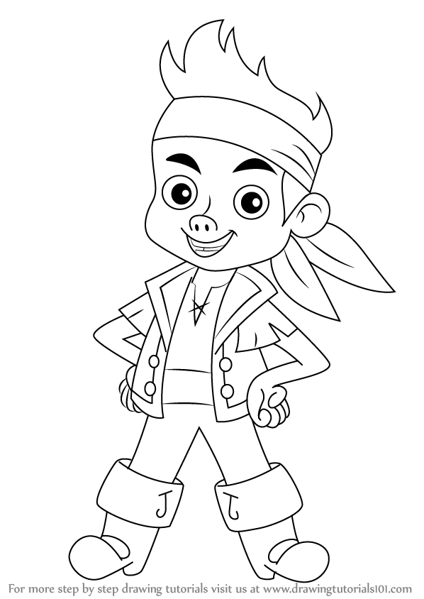 jake and the neverland pirates cartoon learn how to draw tick tock the crocodile from jake and pirates jake the and cartoon neverland